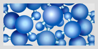 Clustered water molecules