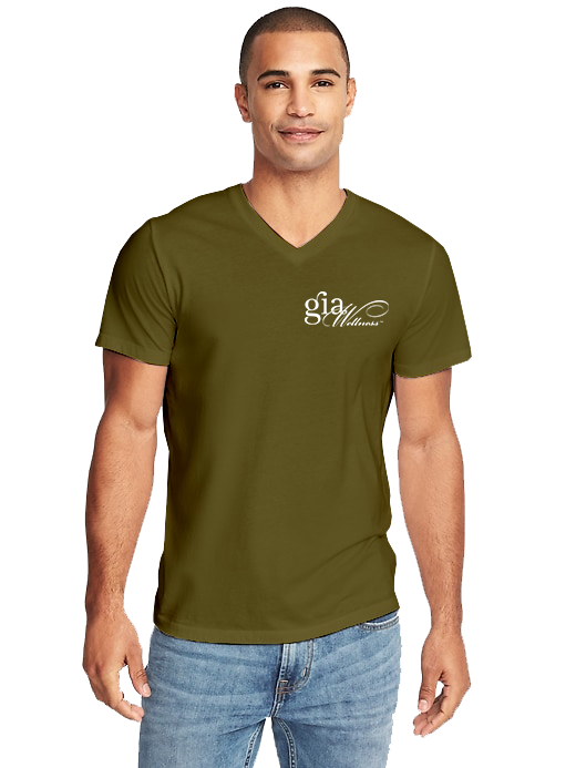 GIA_MilitaryGreen-Men_V-Neck_WHITE