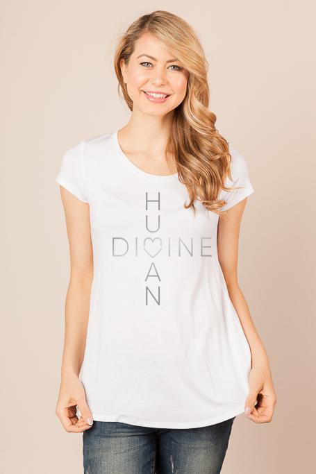 MOCKUP_HumanDivine_WHITE-Shirt_Scoop_SILVER