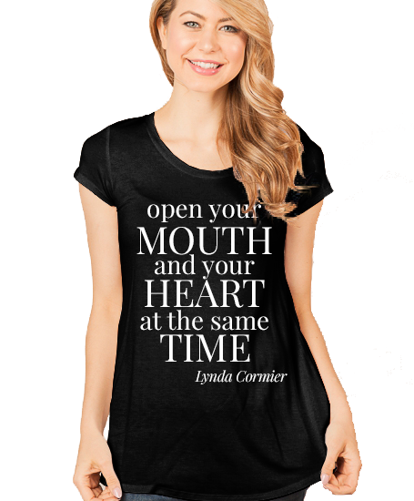 OpenYourMouthAndHeart_BLACK-Shirt_Scoop_WHITE