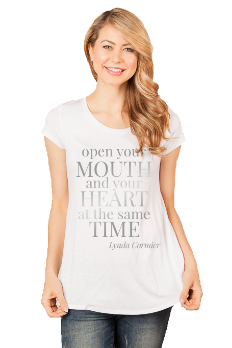 OpenYourMouthAndHeart_WHITE-Shirt_Scoop_SILVER